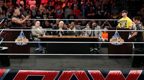How do you sell the biggest wrestling event of the year? With a debate of course!