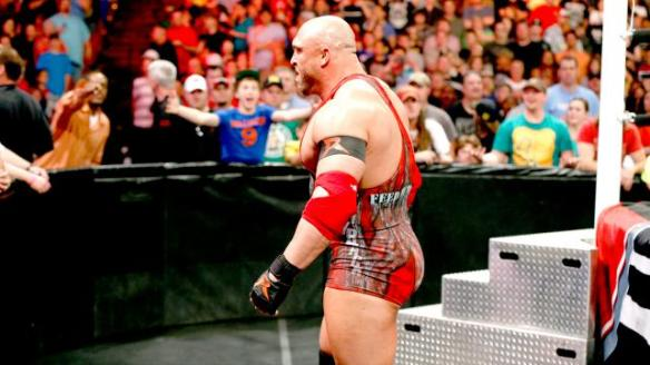 Ryback literally turning his (Ry)back on John Cena (I couldn't resist)