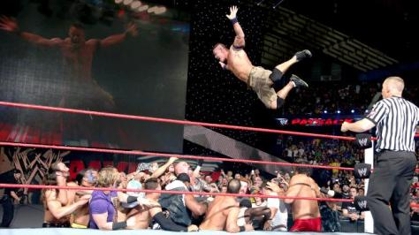 This stage dive was one of two hight points of the main event
