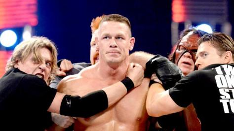 Regal is trying way to hard to restrain empathetic Cena